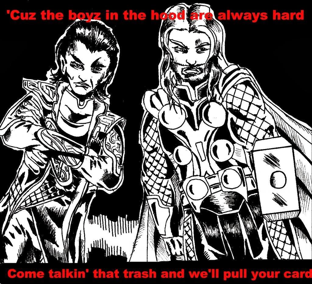 Thor and Loki and Rap Music