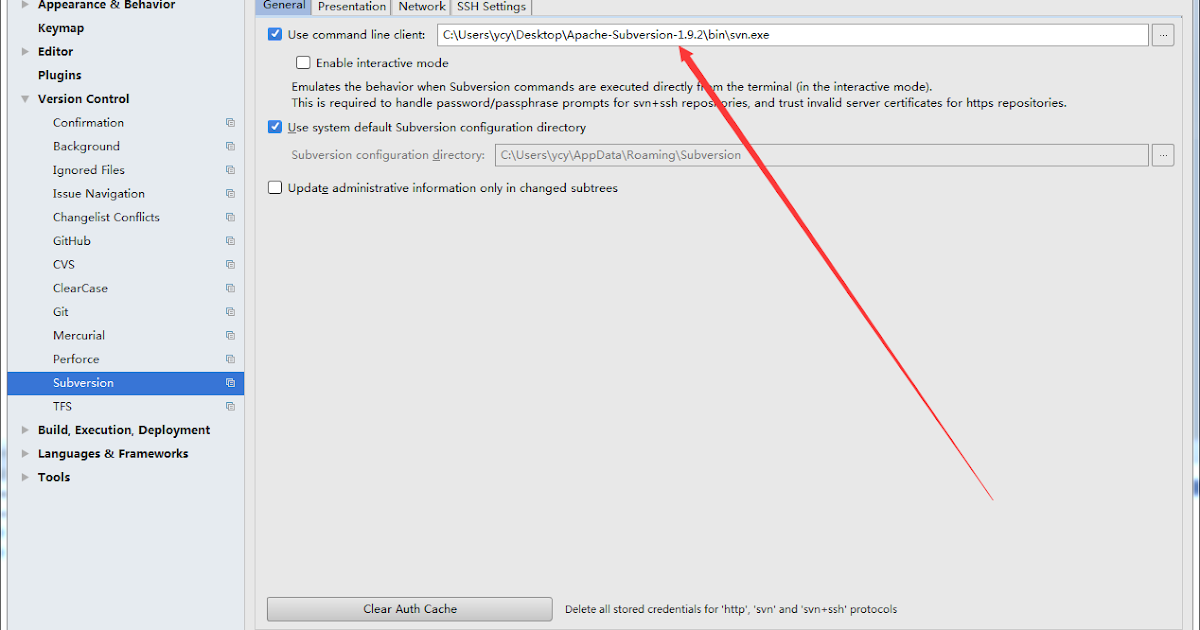Can't use Subversion command line client: svn Probably the path to Subversion executable is wrong. - Shikha Pathak