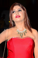 Sejal Jen Shah in Strapless Sleeveless Deep neck Red Gown at 64th Jio Filmfare Awards South ~  Exclusive 008.JPG