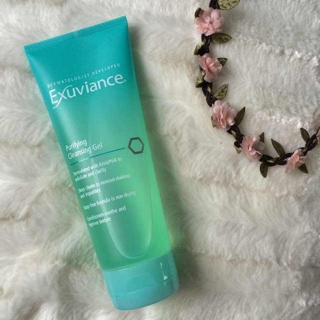 purifiying cleansing gel exuviance skincare #bloggersfestival