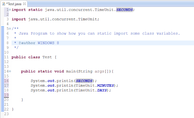 Eclipse Shortcut for doing Static Import in Java
