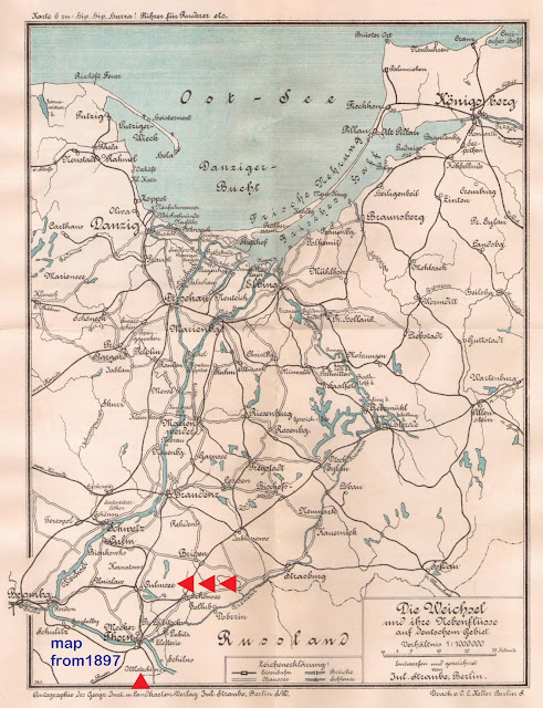Culmsee Karte 1897 Weichsel (Vistula) Rudern (rowing)