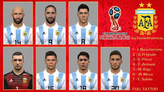 Argentina World Cup 2018 Facepack PES 2017