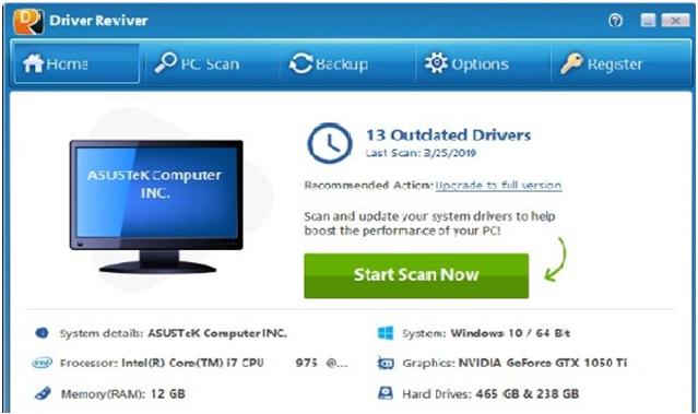 تحميل برنامج تحديث وتحميل تعريفات الجهاز Driver Reviver اخر اصدار