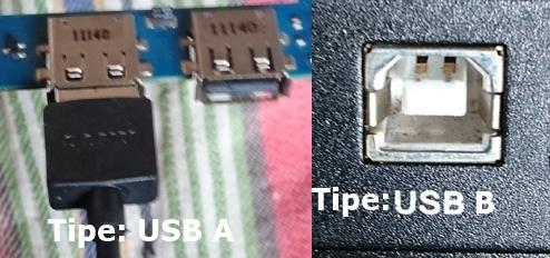 Tipe USB A / USB B Port Komputer