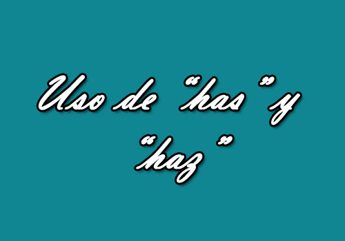Escritura correcta del español