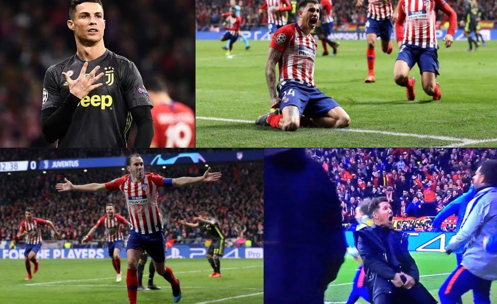 La Juventus crolla nel finale: 2-0 per l'Atletico Madrid e Simeone festeggia da troglodita