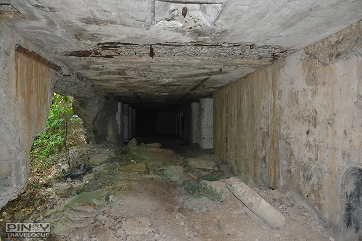 Inside the ruined barracks of Carabao Island