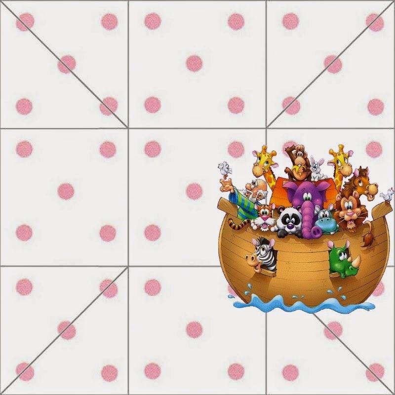 La parte de arriba de la caja de Arca de Noé para Niñas.