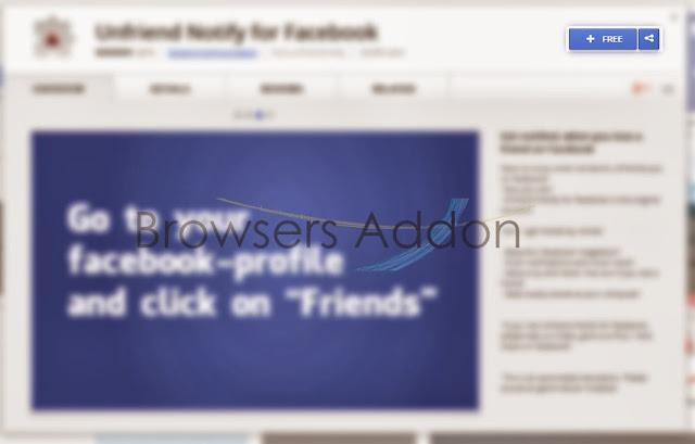 Unfriend Notify for facebook add chrome