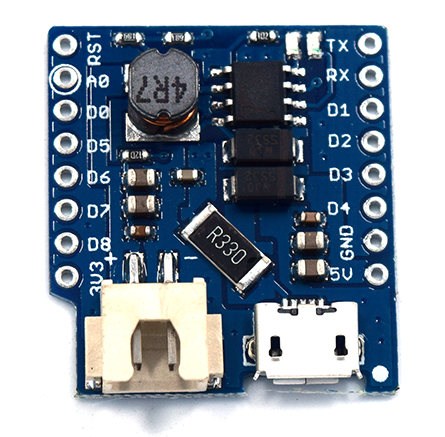 IoT with ESP8266: 18650 Li-Ion battery powered Wemos D1 with