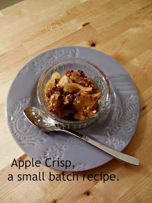 Old Fashioned Apple Crisp.A small batch recipe.