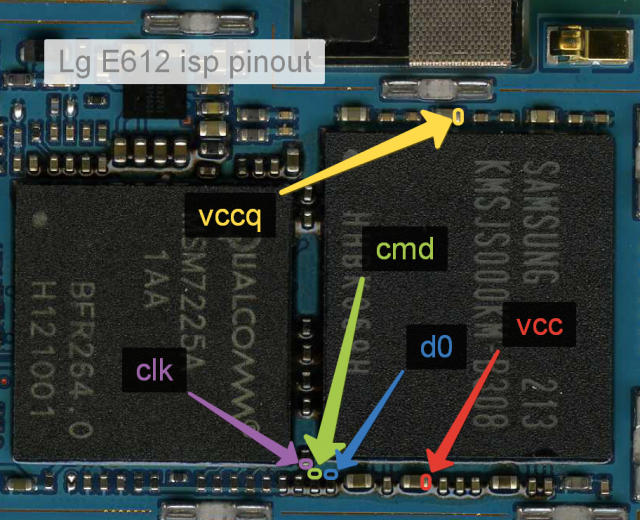 PINOUT DIRECT EMMC LG ( ISP ) | W i n k GSM