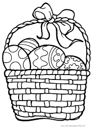 Easter basket coloring pages