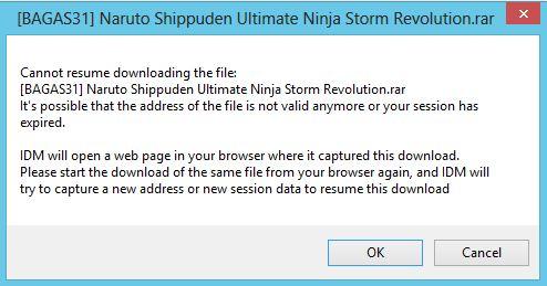 cara meneruskan download di idm