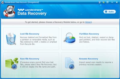 Wonsershare Data Recovery