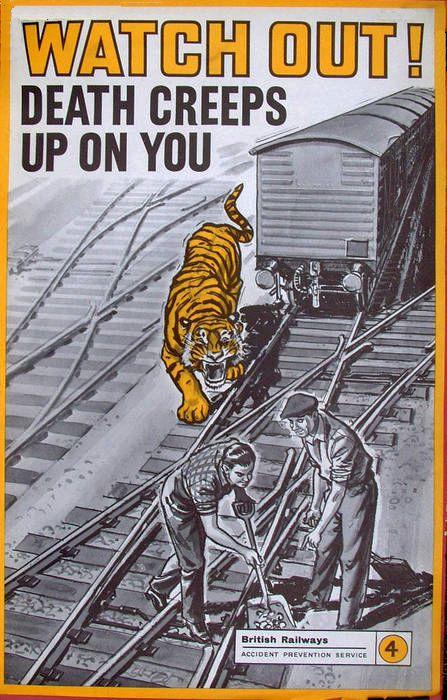 Transpress Nz British Railways Safety Poster 1950s