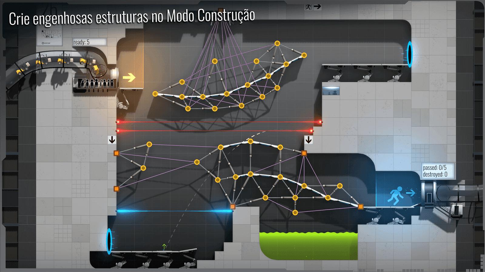 Bridge Constructor Portal v 5.2 apk mod DESBLOQUEADO / SEM ANÚNCIOS