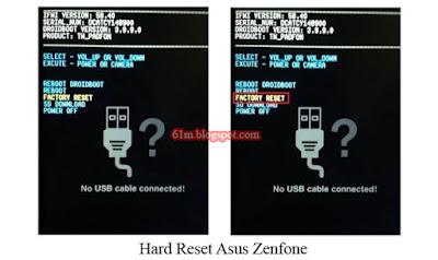 Cara Hard Reset Asus Zenfone