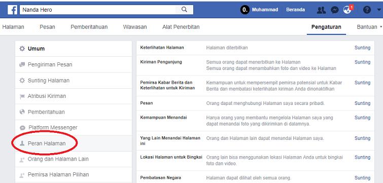 menambah admin di fanspage facebook