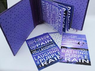 OOAK Handmade Purple Rain Book