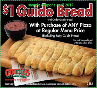 Guidos Pizza coupons april 2017