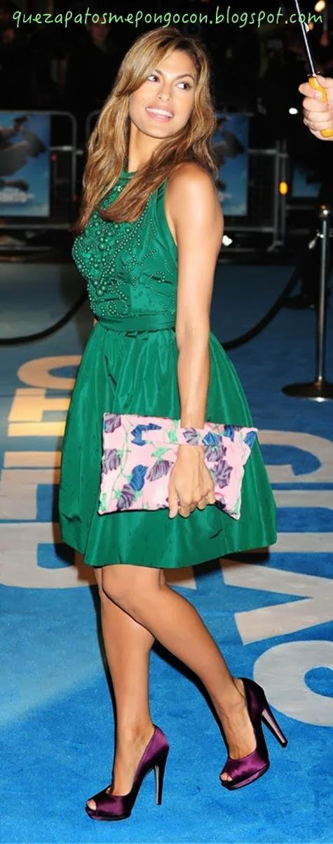 Zapatos para combinar con vestido verde botella