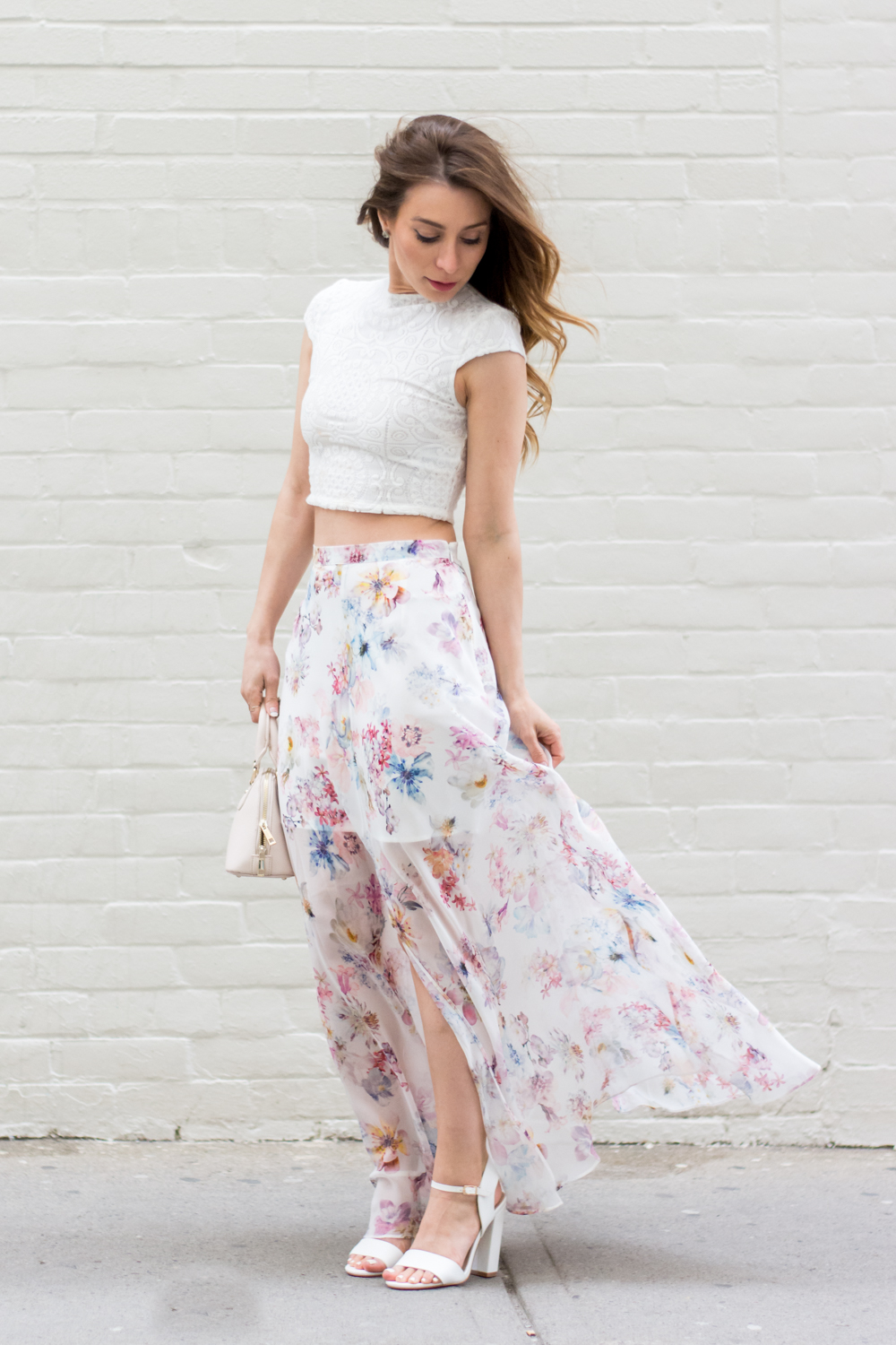OOTD - Floral Maxi Skirt With Ever New | La Petite Noob | A ...