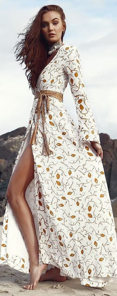 bohemian style perfection: printed maxi dress