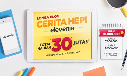 Lomba Blog Cerita HEPI Elevenia Berhadiah Total 30 Juta