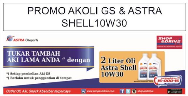 Promo terbaru 2017 beli aki mobil free 2 liter Shell 10w30