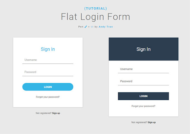 17 Contoh Desain Halaman Login Dijamin Keren + Source (HTML, CSS, JS)