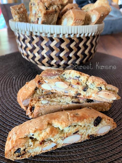 sweetkwisine, cantuccis, biscottis, croquants, amandes, raisins secs, mandarine, biscuits, noel, chritsmas cookies, cadeaux gourmands