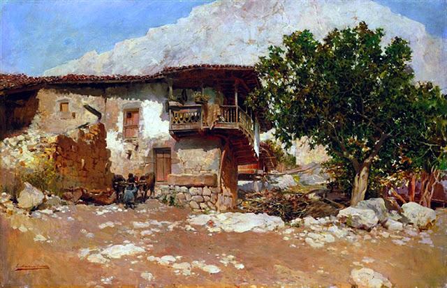 El Caserio, Enrique Martínez Cubells, Mujeres bretonas, Pintor español, Pintores españoles