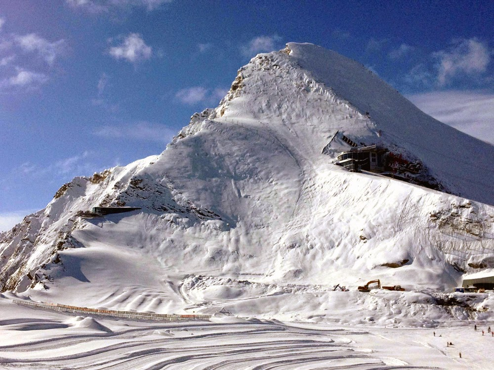 Kitzsteinhorn glacier by Kaprun in Austria