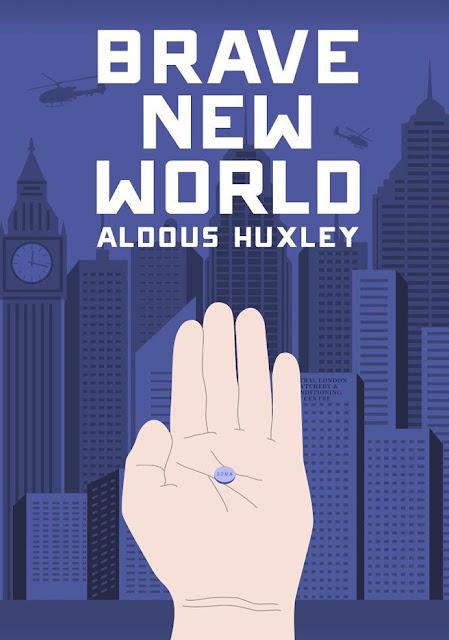 Εξώφυλλο για τον Θαυμαστό Καινούργιο Κόσμο του Άλντους Χάξλεϋ / Brave New World by Aldous Huxley, book cover