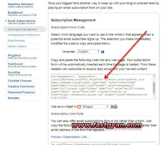 feedburner email subscriptions html code