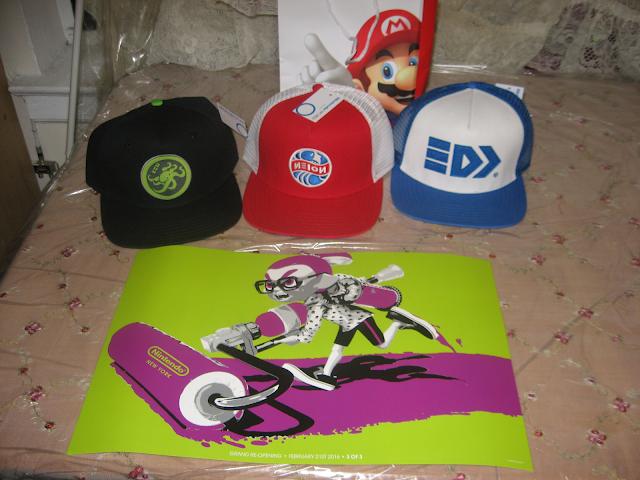 Nintendo NY Splatoon hats poster merchandise Takoroka Mesh