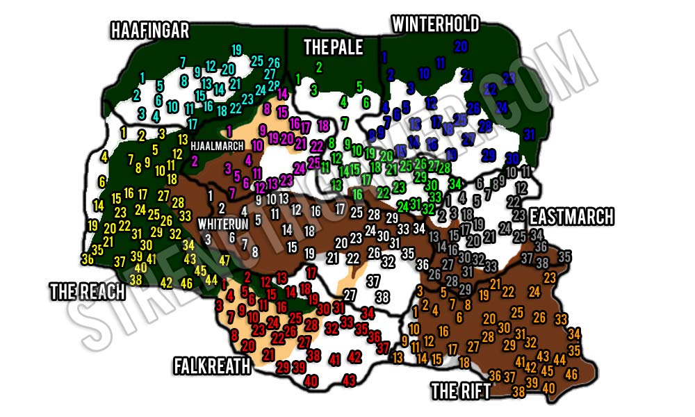 Skyrim Map All Locations