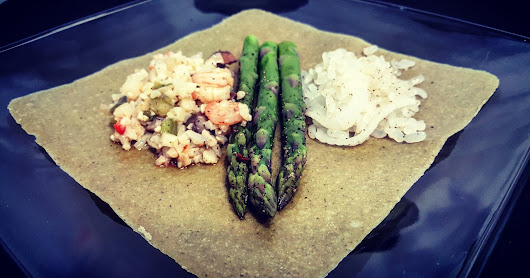 Tonight's Menu: Seafood Asparagus Wrap!