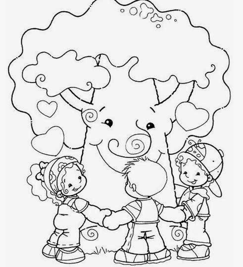 Desenhos De Arvores Para Colorir Pintar Imprimir Espaco