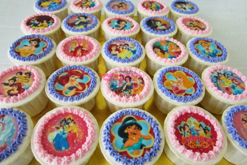 Birthday Cupcake Edible Image Princess