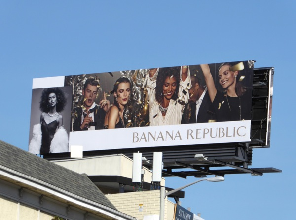 Banana Republic Holidays 2016 billboard