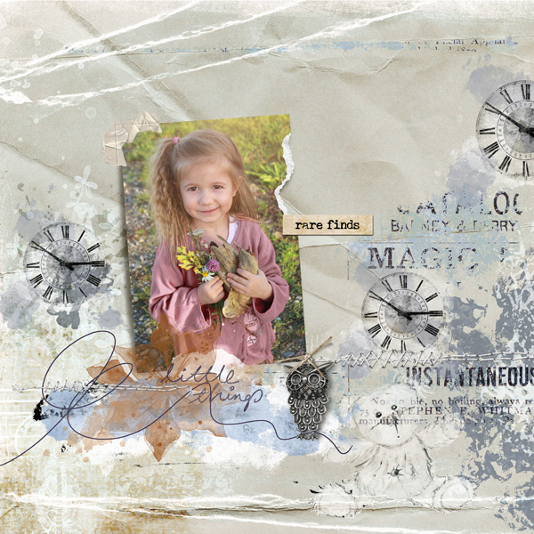 clindoeildesign Dawn Inskip KnickKnacks scrap digital vintage