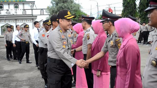 18 Personil Berprestasi Polres Muba Naik Pangkat