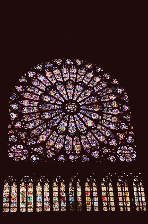 places to visit in paris in 2 days notre dame stained glass