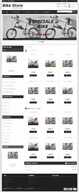 Free osCommerce 2.3.3 Template for Bike Store