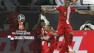 Skuad Susunan Pemain Panama di Piala Dunia 2018