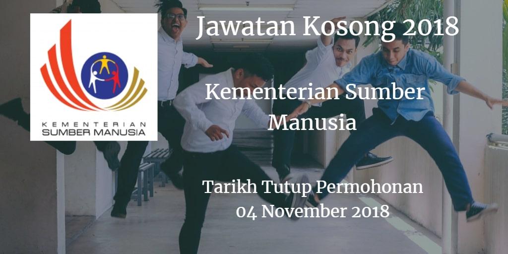 Jawatan Kosong KSM 04 November 2018