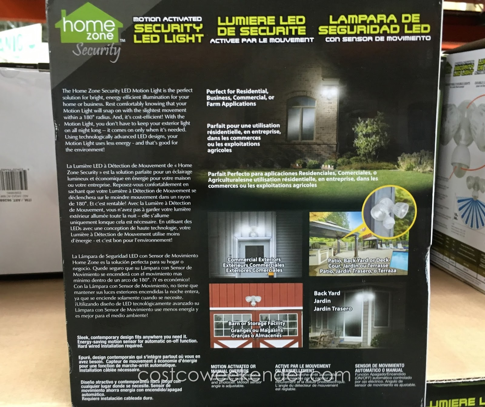 Outdoor Security Lights Costco: Home Zone Security LED Motion Light